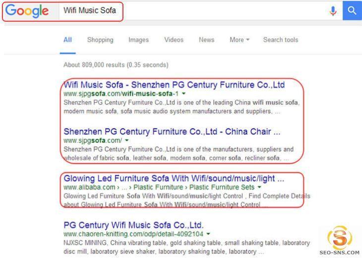 SEO优化谷歌首页