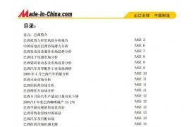 【区域市场分析报告 - 南美洲】国际投资贸易情报--巴西卷