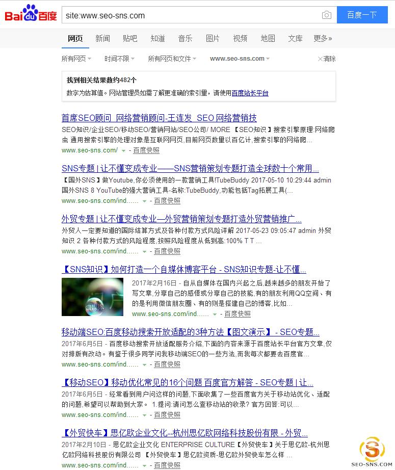 site检测网站收录情况