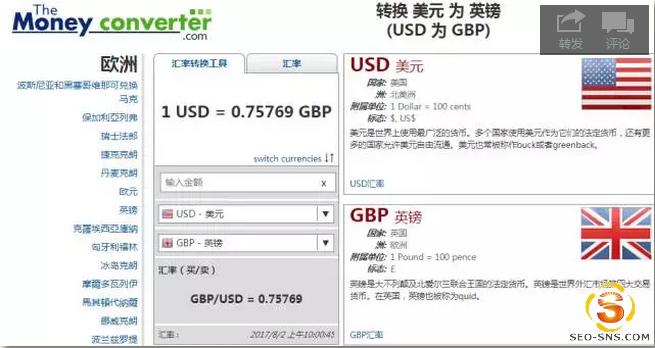 全球汇率换算器